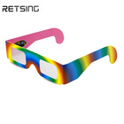3D Cardboard Fireworks Diffraction Glasses