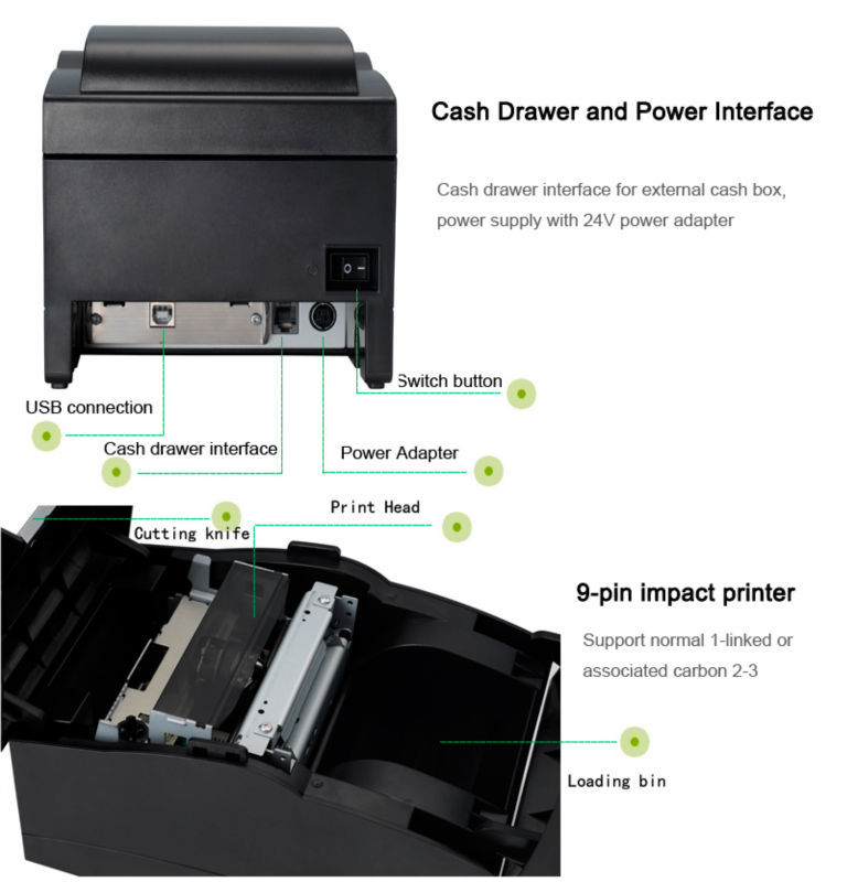 Cheap factory 58mm portable thermal printer, Supporting embedded POS 76 thermal receipt printer with driver