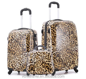 Factory Price Polo Leopard Print Suitcase Luggage With Good Price ...