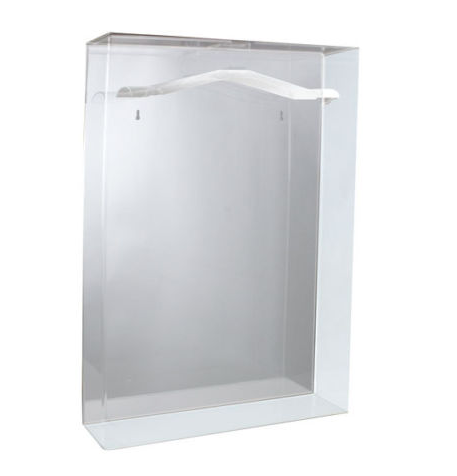 Acrylic Small Jersey Display Glass Frame Cabinet Case with Mirrored Back