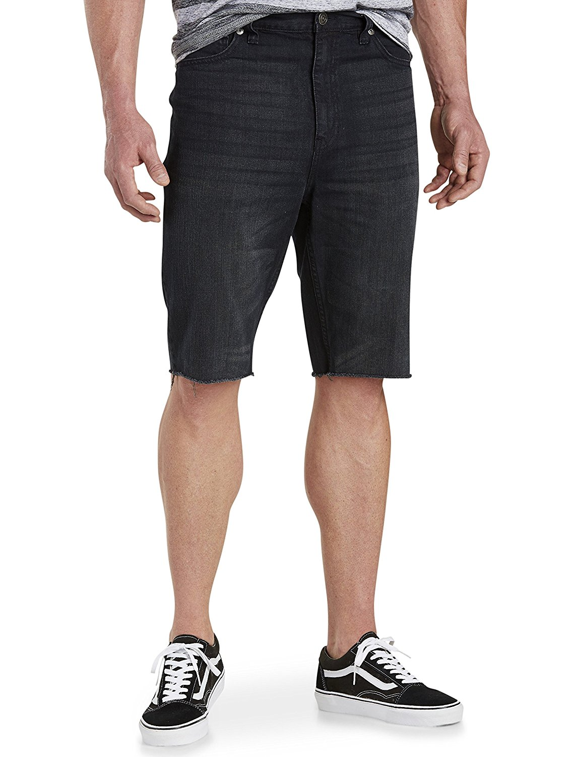 e3938b224a6 Men True Nation by DXL Big and Tall Rinsed Relaxed-Fit Denim Shorts