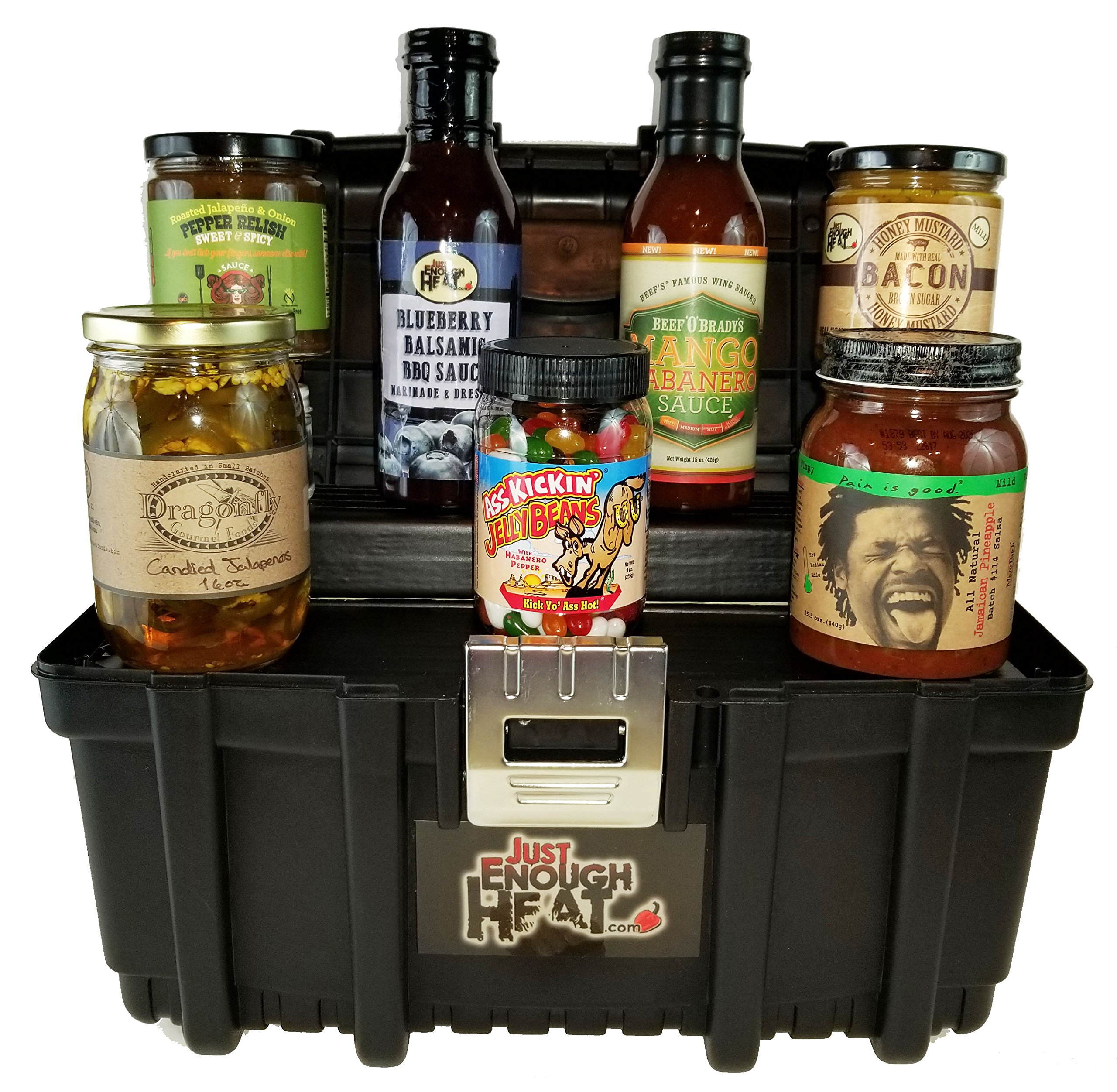 Buy Shop Owners Gift Lot Includes Toolbox Labels Eye Saver Chrome Circuit Breaker Identification Spicy Sweet Gourmet Set Hot Sauce Food Basket For Men Women By Just Enough Heat