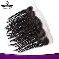 full front lace closures 100% remy human hair swiss lace closure piece