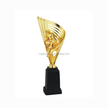 Wholesale unique design bronze plastic big size basketball trophy cup with customzied logo