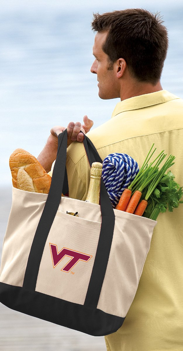 Virginia Tech Tote Bag or OFFICIAL Canvas Virginia Tech Hokies Totes