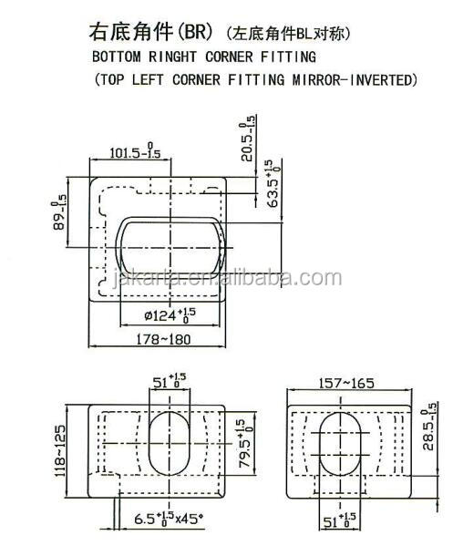 Container Casting Top Right Corner Fitting (tr) - Buy ...