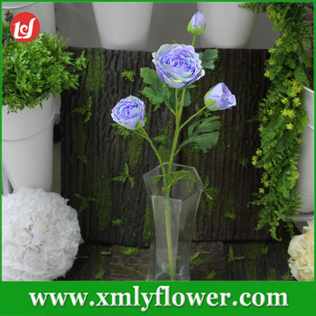 2017 Wedding Table Centerpieces Fake Flowers Blue Ranunculus Blossom