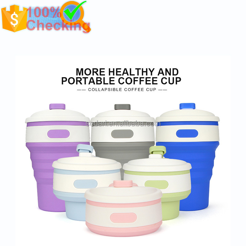 350ml travel silicone collapsible coffee cup/silicone folding cup/foldable cup