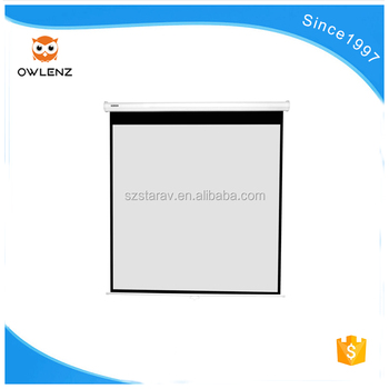 Factory low price Wall or Ceiling Pull the curtain projection screen 200 inch