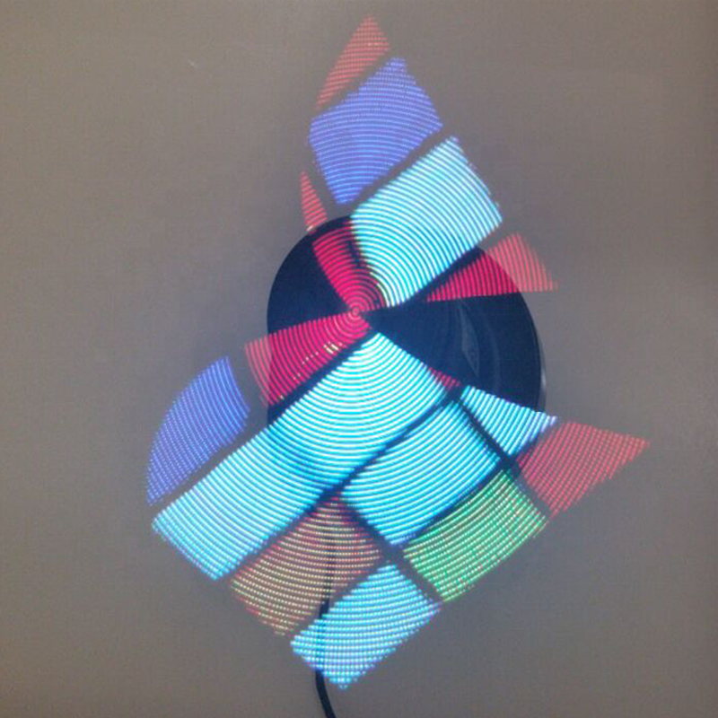 New technology popular advertising equipment 3D hologram display fan