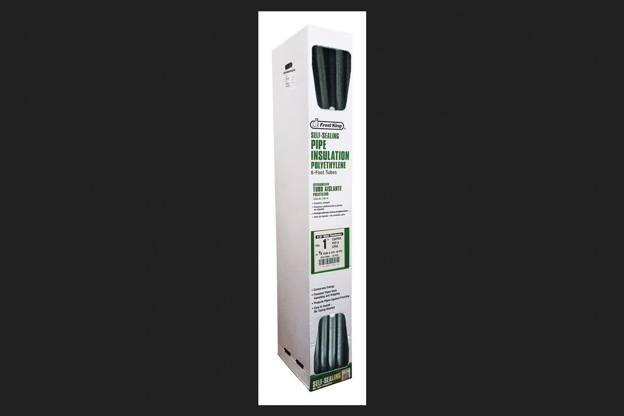 Thick Wall x 6 ft x 1//2 in Frost King SP514XB6 2 in Self Seal Tubular Poly Foam Pipe Insulation Pack of 14