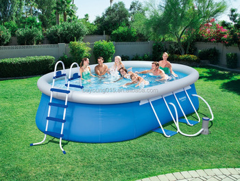 20ft x12 ft x 48in fam lia piscina grande oval heighten for Precios de piscinas inflables para adultos