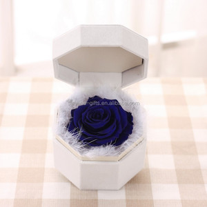 best customized valentine gift preserved cut rose flower box gift
