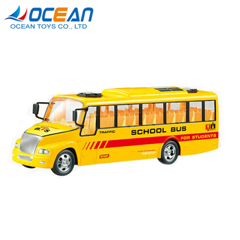 Ocean Toys new 4ch have light kids rc yellow school bus toy for age 3+