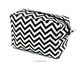 New hot selling promotional chevron cosmetic make up bag