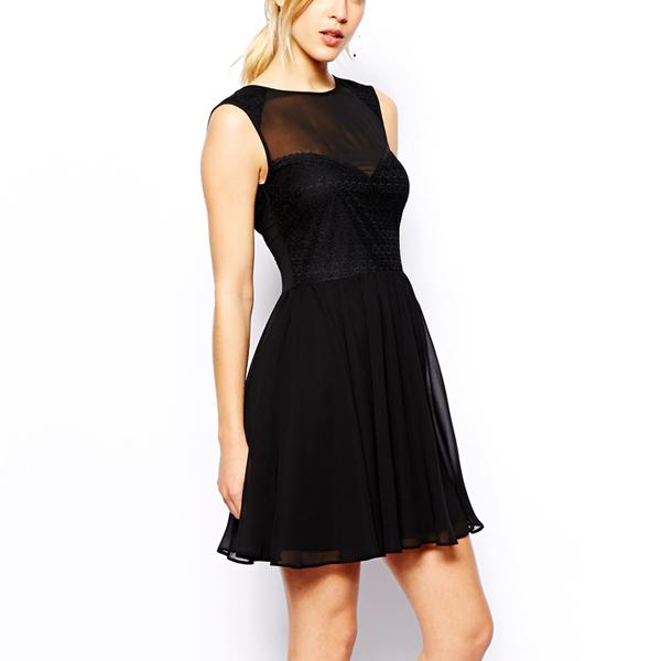 070d337685eb5 ثوب جديد الموضة 2015، فستان أسود مثير تناسب المرأة-فساتين غير رسمية ...