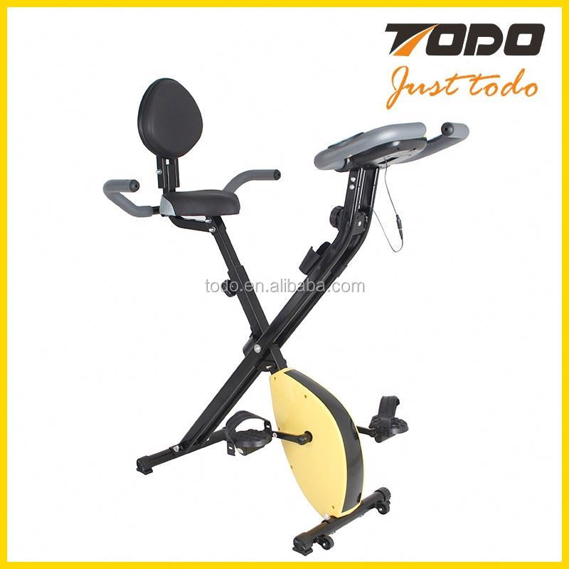 Cheap gym body strength bike home use X shape bike with bluetooth spinning exercise bike