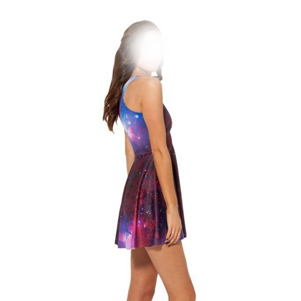 98f03c51ad85a Wholesale-Sexy Women Galaxy Dress Adventure Time Sleeveless Club Mini  Dresses Skater S-2XL Party Wear Freeshipping Hot Sale
