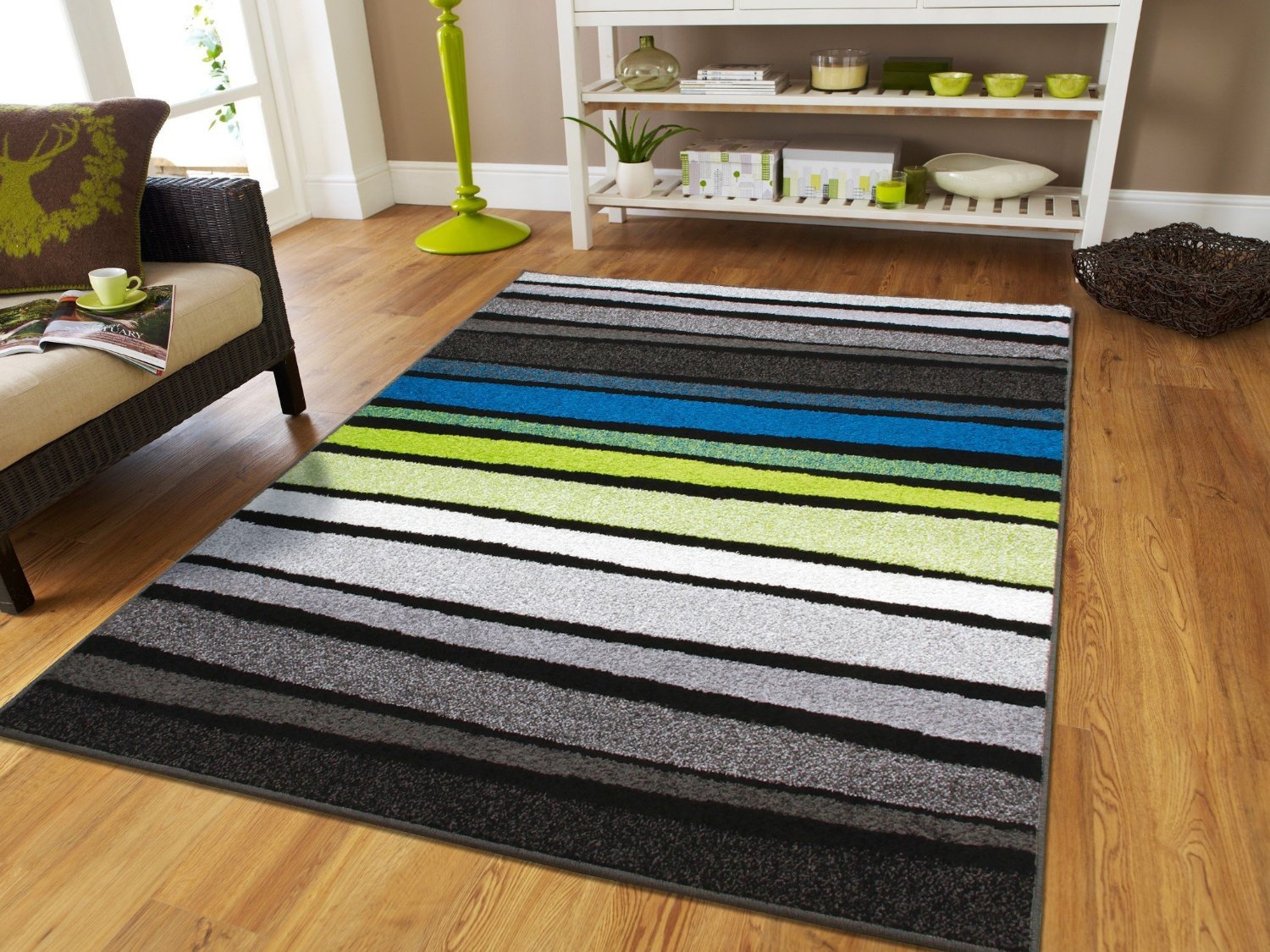 New fashion large 8x11 striped rug blue rugs clearance 8x10 black turquoise white grey green contemporary