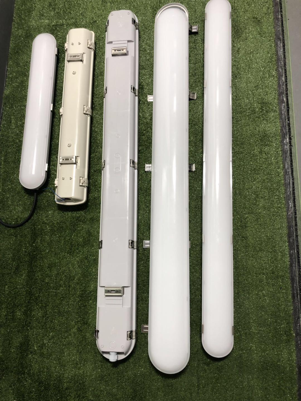 CE/RoHS IP65 led light tube LED Tri-proof batten Light 20W 40W 60W Linkable outdoor tri proof led lighting