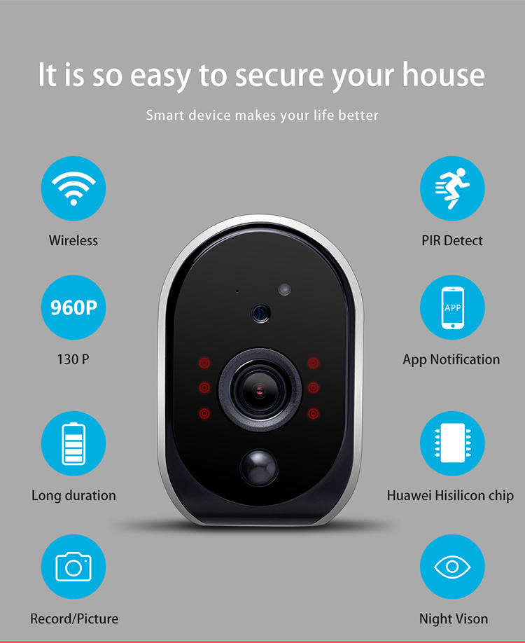 Geeklink Excellent Quality smart home mini security system hidden camera Outdoor portable detector hd security camera
