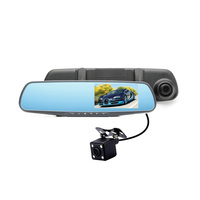 4.3inch Car Dvr Full Hd 1080p 2 Dual Lens Cameras Car Dash And Rear Camera Screen Hd Car Dvr User Manual Vehicle Blackbox