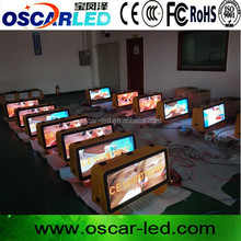 OSCARLED New slim taxi ligt box/Taxi top ADS/Moving advertisements light box sign panel board screen