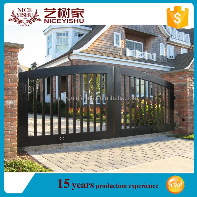 Yishujia fabrik modernes haus stahl metall eisentor design for Modernes haus zaun