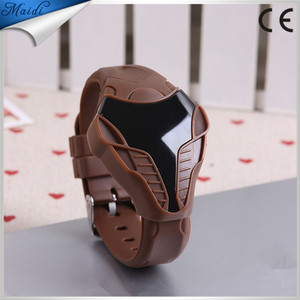 2015 New Arrival!Fashion Sport LED Watches Silicone Iron Man Digital watchesTriangle Dial snake head Cobra Men's Watch LMW-3