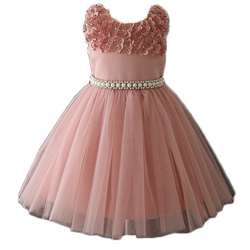 Fairy princess flower girl pink pearl ceremony <strong>baby</strong> dress summer <strong>cotton</strong> <strong>frocks</strong> designs