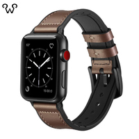 Hot sale genuine calfskin leather watch strap for apple watch band with Connector