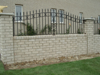 Simple Wall Wrought Iron Fence Gate Grill Design