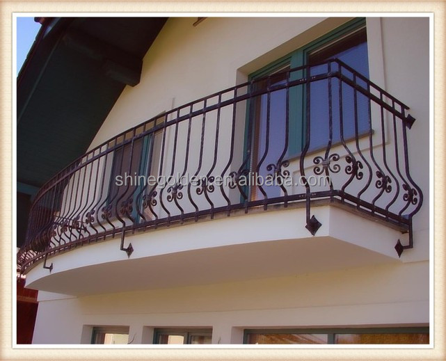 Gyd- 15b021 decorativi in ferro battuto balcone pavimenti in legno ...