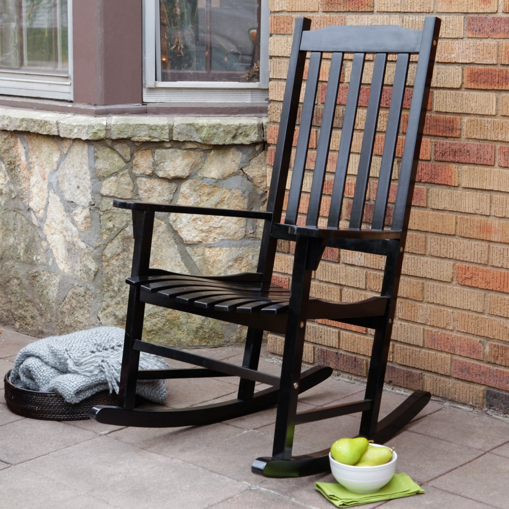 Get Quotations Cc Highest Rated Top Ing Beautiful Affordable Indoor Outdoor Black Wood Rocking Chair Clic
