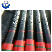 API 5CT P110 perforated casing oil well screen pipe for solids dewatering