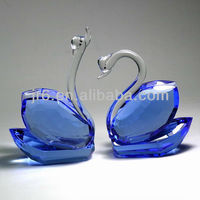 Blue Wedding Glass Pipes Animal Shaped for Islamic Crystal Gifts