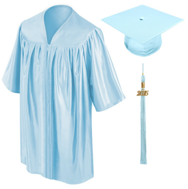Wholesale preschool Green shiny kids graduation gowns and caps