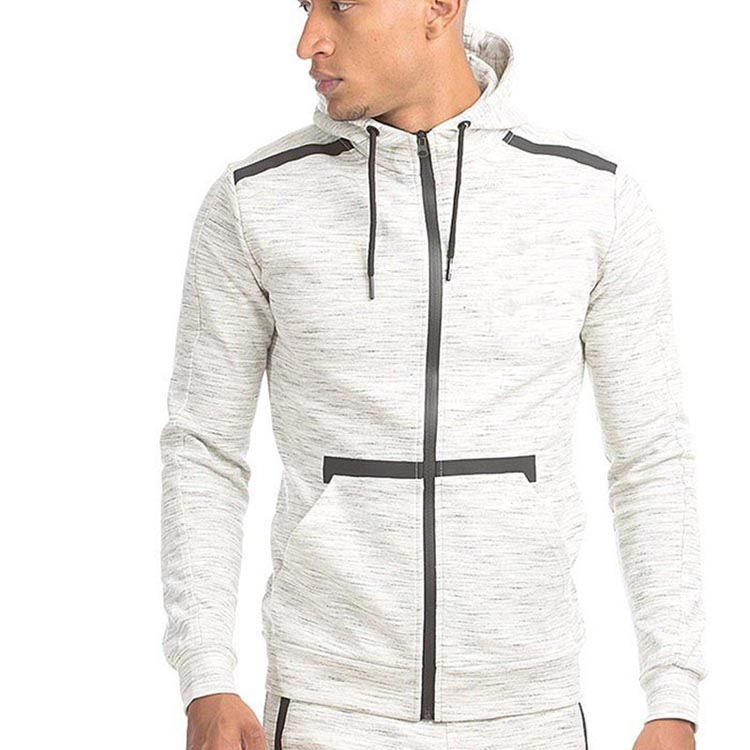 OEM design mens zip up kangaroo pocket cotton bulk plain no name hoodies