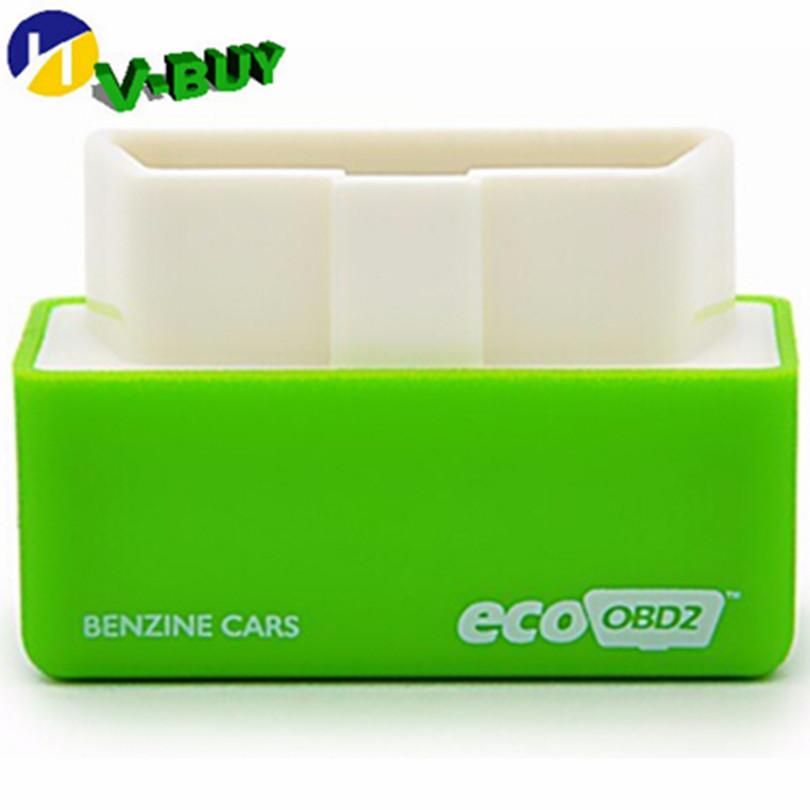Зеленый EcoOBD2 экономика чип тюнинг коробка OBD автомобиля вкладчик топлива Eco OBD2 для бензином автомобили топлива на 15%