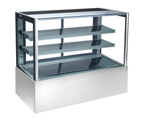 Stainless Steel Marble Glass Display Cake Refrigerator