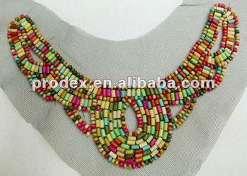 Handbeaded Garment Accessory Patch Applique Badge,Neck Embroidery ...
