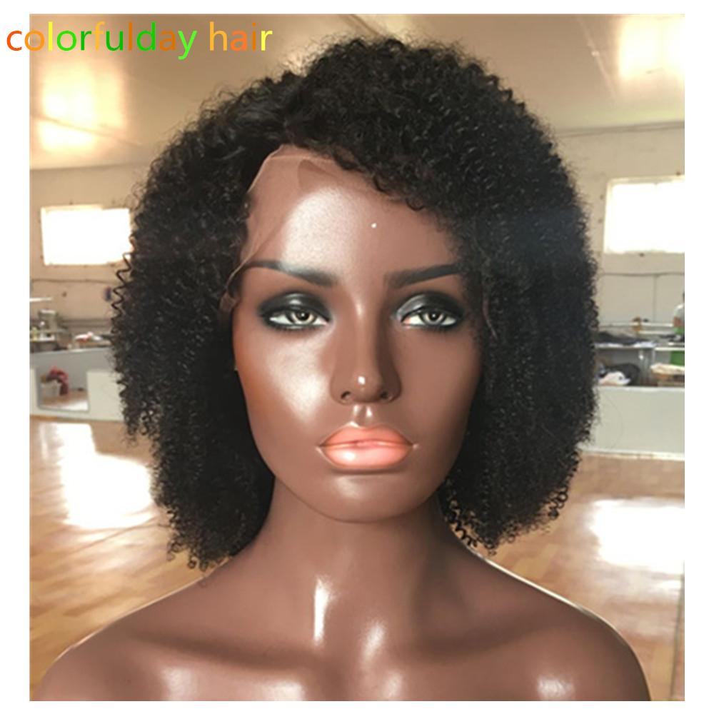 8A Hot Glueless Full Lace Wig Curly Human Hair Brazilian Virgin Full Lace Kinky Curly Human