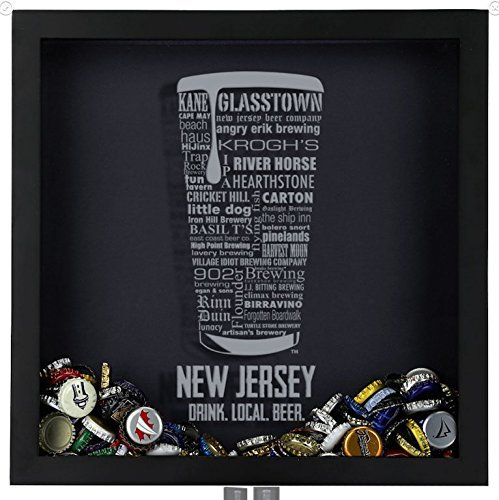 Beer Cap Shadow Box, New Jersey Typography