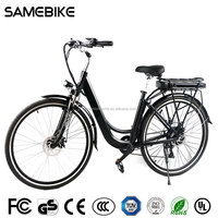 ebike electric bike 28 inch green city and woman bicycle A3AL28 NSB
