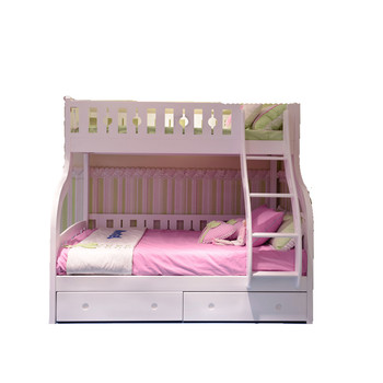 Best Ing High Quality Durable Modern Pine Wood Kids Bunk Beds Double With Trundle Bed