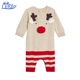 100%Cotton Kids Striped Baby Infant Christmas Red Deer Pajamas Sleeping Clothes