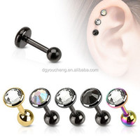 Hot Tragus Cartilage Piercing Earings With Crystal