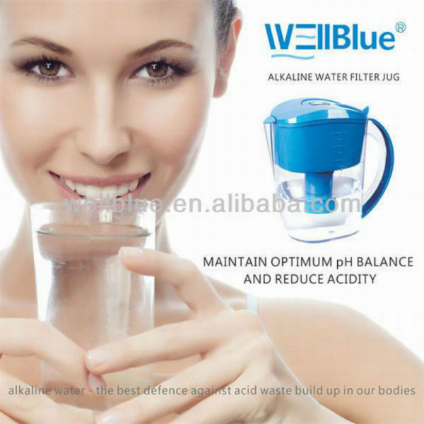 pitcher water filter bpa L-PF601 (alkaline 8.5-10.4 ,ORP -150mv to-300mv)