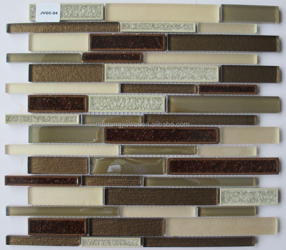 Striscia lineare piastrella smaltata mosaico di vetro mattonelle ...