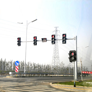 6.5m Height Octagon Tapered Traffic Light Pole with Single-Arm